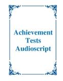 Achievement Tests Audioscript