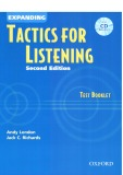 Expanding Tactics For Listening Second Edition