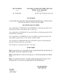 Quyết định số 768/QĐ-BTC