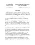 Quyết định số 04/2012/QĐ-UBND