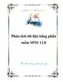 Phân tích dữ liệu bằng phần mềm SPSS 12.0
