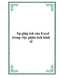 Sự giúp ích của Excel trong việc phân tích kinh tế