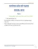 Các hướng dẫn sử dụng Excel 2010