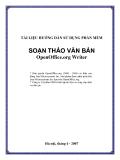 Tài liệu hướng dẫn sử dụng phần mềm soạn thảo văn bản OpenOffice.org Writer