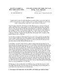 Thông báo số 1809/TB-BNN-VP