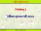 Lập trình Java: Chương 1: Tổng quan về Java