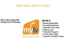 Giới thiệu dịch vụ MyTV
