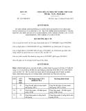 Quyết định số 1223/QĐ-BYT