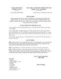 Quyết định số 662/2012/QĐ-UBND