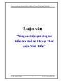 """Đề tài """"Nâng cao hiệu quả công tác Kiểm tra thuế tại Chi cục Thuế quận Ninh  Kiều"""""""