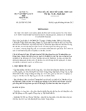 Thông báo số 265/TB-VTLTNN