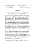 Thông báo số  1261/TB-BNN-VP