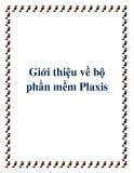 Giới thiệu về bộ phần mềm Plaxis