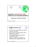 NGUYÊN LÝ KINH TẾ HỌC VĨ MÔ PRINCIPLES OF MACROECONOMICS - ThS. Phan Thế Công