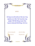 """Báo cáo thực tập """" Kết hợp sản xuất tại Dự án Nhà máy Công nghệ Kyocera Mita Việt Nam, Khu công nghiệp VSIP Hải Phòng, huyện Thủy Nguyên, thành phố Hải Phòng, Việt Nam """""""