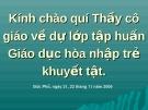 DẠY HỌC HÒA NHẬP TRẺ KHUYẾT TẬT