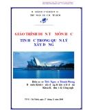 Giáo trình Tin học trong quản lý xây dựng - ThS. Nguyễn Thanh Phong