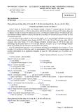ĐỀ THI TỐT NGHIỆP TRUNG HỌC PHỔ THÔNG NĂM 2012 MÔN TIẾNG PHÁP HỆ 3 NĂM - MÃ ĐỀ 426