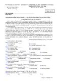 ĐỀ THI TỐT NGHIỆP TRUNG HỌC PHỔ THÔNG NĂM 2012 MÔN TIẾNG PHÁP HỆ 3 NĂM - MÃ ĐỀ 754