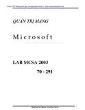 QUẢN TRỊ MẠNG  Microsoft LAB MCSA 2003 70 - 291