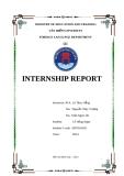 BÁO CÁO KHOA HỌC: INTERNSHIP REPORT