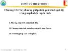 Chương 10: Các phương pháp tính quá trình quá độ trong mạch điện tuyến tính