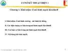 Chương 1: Khái niệm mô hình mạch kirchhoff