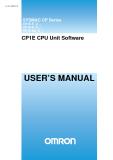 CP1E CPU Unit Software - USER'S MANUAL