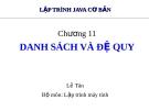 Bài giảng Lập trình Java cơ bản: Chương 11 - Lê Tân