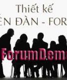 Hướng dẫn thiết kế : Thiết kế Forum nhanh chóng và đơn giản