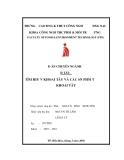 ĐỒ ÁN CHUYÊN NGÀNH ĐỀ TÀI:  TÌM HIỂU VỀ KHOAI TÂY VÀ CÁC SẢN PHẨM TỪ KHOAI TÂY