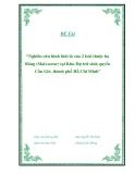 """Đề tài """"Nghiên cứu hình thái lá của 2 loài thuộc họ Bông (Malvaceae) tại Khu Dự trữ sinh quyển Cần Giờ, thành phố Hồ Chí Minh"""""""