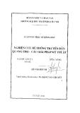 Luận văn Thạc sĩ Khoa học: Nghiên cứu hệ thống truyền dẫn quang SDH - Các giải pháp kỹ thuật
