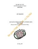 Bài giảng Thuốc thử hữu cơ trong phân tích (dùng cho sinh viên chuyên hóa ĐH Đà Nẵng) - Lê Thị Mùi