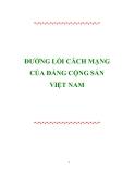 Ebook Đường lối Cách mạng của Đảng Cộng sản Việt Nam