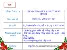 PHÂN TÍCH CHỨNG KHOÁN CÔNG TY CHO LON WATER SUPPLY JOINT STOCK CHOLON WASUCO JSC