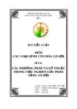 CÁC PHƯƠNG PHÁP VÀ KỸ THUẬT TRONG VIỆC NGHIÊN CỨU PHÂN TẦNG XÃ HỘI