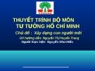 Bài thuyết trình: Xây dựng con người mới - Nguyễn Như Hiếu