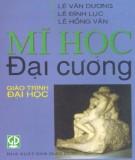 Giáo trình Mĩ học đại cương - Lê Văn Dương, Lê Đình Lục, Lê Hồng Vân