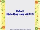 Định dạng trang với CSS
