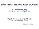Bài giảng Đàm phán trong kinh doanh - TS. Nguyễn Ngọc Điệp