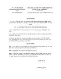 Quyết định số 2768/QĐ-UBND