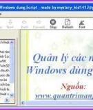 Quản lý các mạng Windows dùng Script