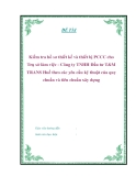 """Đồ án môn học """" Kiểm tra hồ sơ thiết kế và thiết bị PCCC cho Trụ sở làm việc - Công ty TNHH Đầu tư T&M TRANS Huế theo các yêu cầu kỹ thuật của quy chuẩn và tiêu chuẩn xây dựng """""""