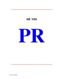 Đề thi môn PR