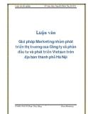 Giải pháp Marketing nhằm phát triển thị trường của Công ty cổ phần đầu tư và phát triển Vietsun trên địa bàn thành phố Hà Nội