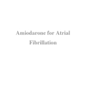 Amiodarone for Atrial Fibrillation