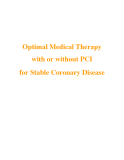 Optimal Medical Therapy with or without PCI for Stable Coronary Disease