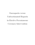 Enoxaparin versus Unfractionated Heparin in Elective Percutaneous Coronary Intervention