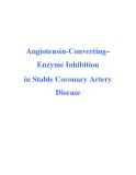 Angiotensin-Converting– Enzyme Inhibition in Stable Coronary Artery Disease
